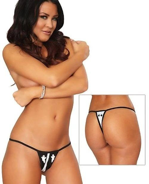 9020store EVEALING GHOST CROTCHLESS THONG