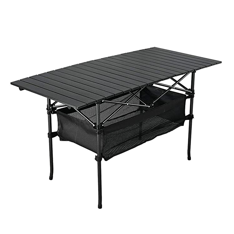 9020store Outdoor Folding Portable Picnic Camping Table, Aluminum Roll-up Table with Easy Carrying Bag for Indoor,Outdoor,Camping, Beach,Backyard, BBQ, Party, Patio, Picnic