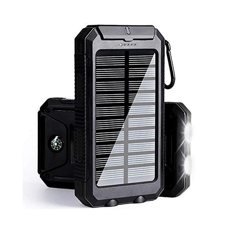 9020store Solar Charger 30,000mAh, Portable Solar Battery Charger External Battery Pack Phone Charger Power Bank for Cellphones Tablet with Flashlight and a 3 Feet Micro USB Cord (Black)