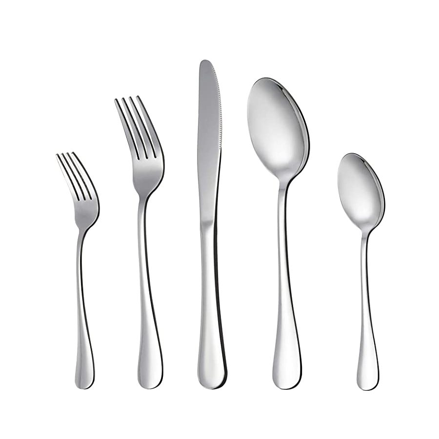 9020store 20 Piece Flatware Cutlery Set, Stainless Steel Utensils Service for 4, Include Knife Fork Spoon, Mirror Polished, Dishwasher Safe
