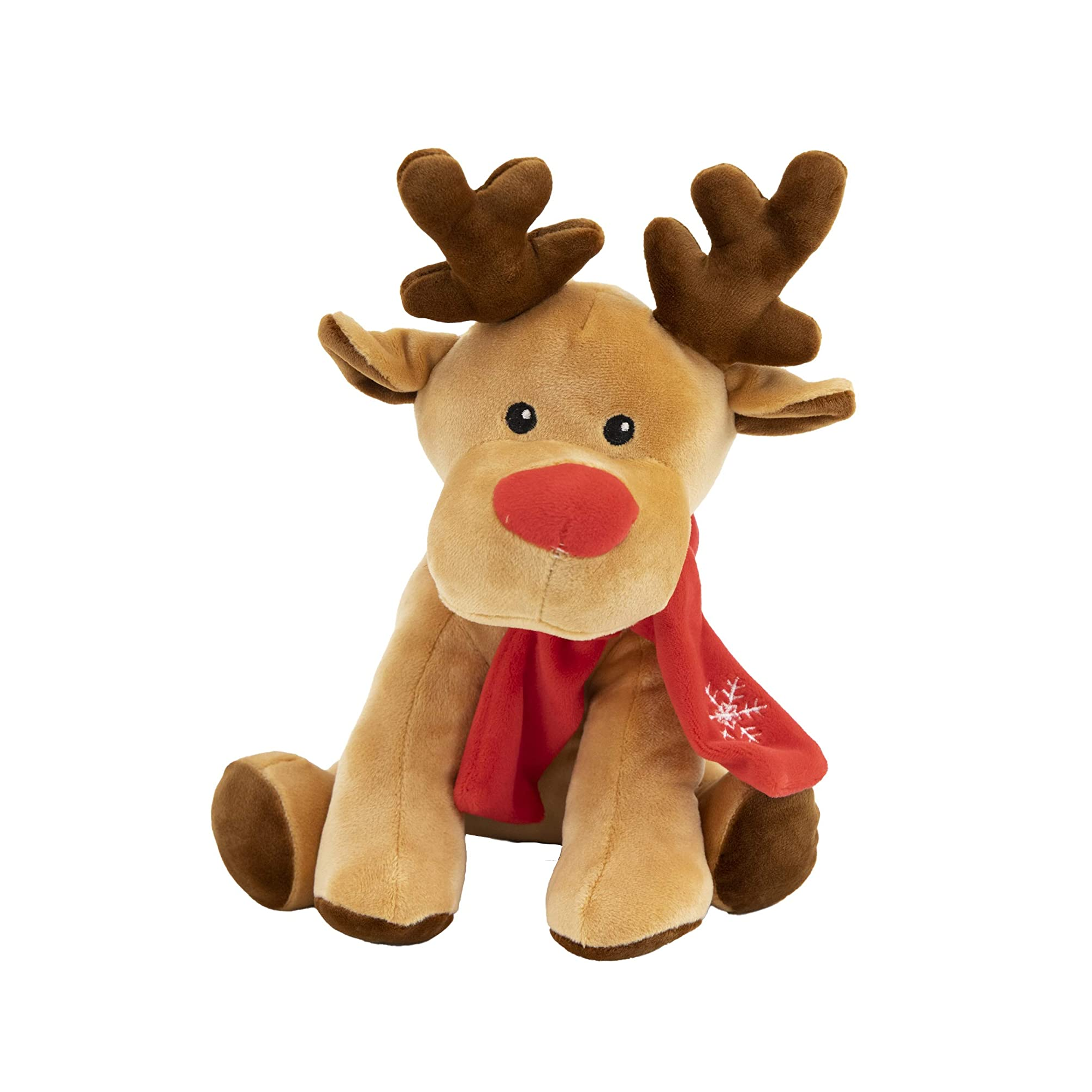 9020store Christmas Reindeer Stuffed Animal - Cute Plushies for Adults and Kids - Adorable, Soft Festive Reindeer with Scarf