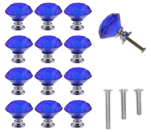 Amazon: 12 Count Diamond Shape Crystal Glass Cabinet Knobs for only $5.37 W/Code (Reg. $10.74)