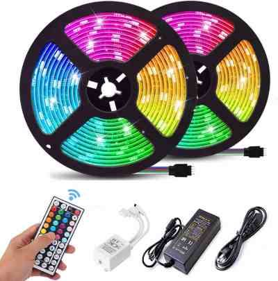 Amazon: 32.8 Feet RGB Flexible Led Light Strips with 44Keys IR Remote for ONLY $10.99 (Reg. $21.99)