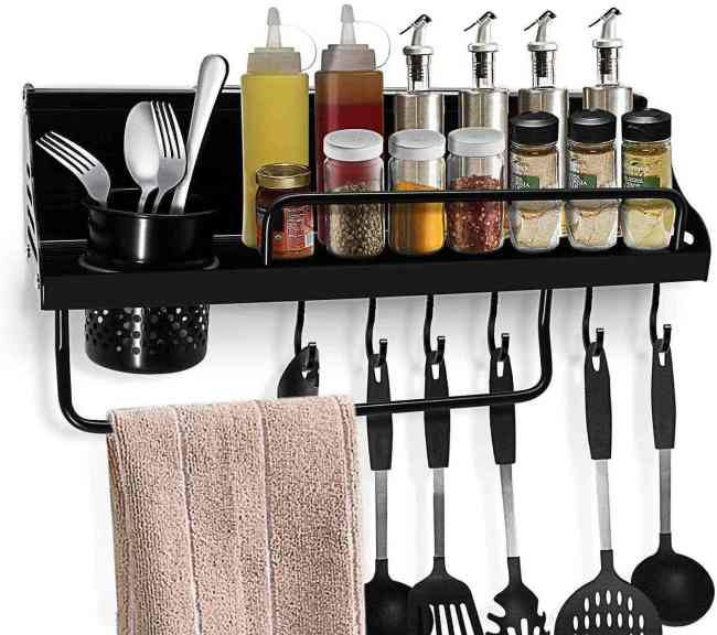 Amazon: Spice Rack with S Hooks Towel Bar, Just $14.39 (Reg $23.99) after code!