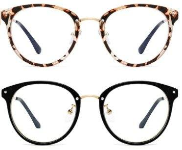 Amazon: Retro Round Blue Light Blocking Glasses, Just $4.37 (Reg $21.89) after code and coupon!