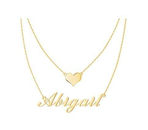 Amazon: Layered Name Necklace with Heart for $9.99 (Reg. Price $19.99)