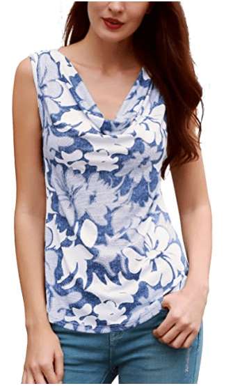 Amazon: Cowl Neck Sleeveless Stretch Tank Tops for only $8.39 – $10.79 (Reg: $18.99)