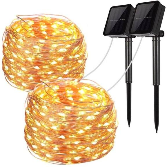 Amazon: 2 Pack Solar String Lights for $7.99 (Reg.Price $15.99) after code!