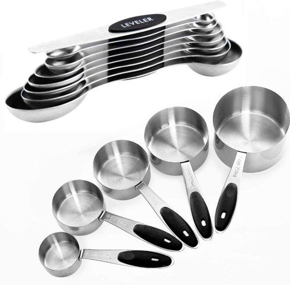 Amazon: 13pc Measuring Cups and Magnetic Measuring Spoons Set $19.99