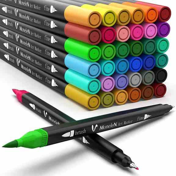 Amazon: 36 Dual Brush Pens Fine Tip Art Colored Markers for only $11.52 (Reg: $28.99)