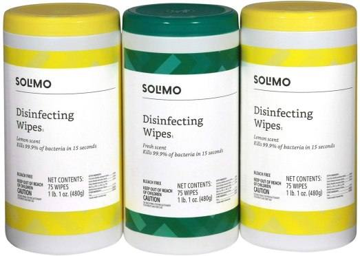 Amazon: Solimo Disinfecting Wipes Just $8.54