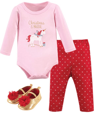 Amazon: Baby Cotton Bodysuit, Pant and Shoe Set for only $5.58 (Reg: $14.99)