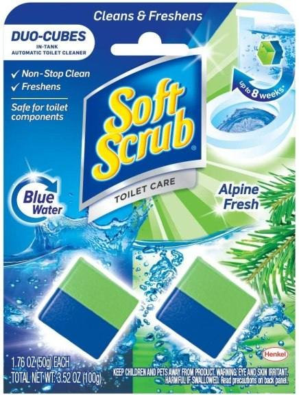 Amazon: Soft Scrub In-Tank Toilet Cleaner Duo-Cubes, Alpine Fresh, 2 Count for only $1.98!