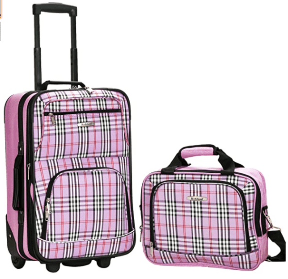 Amazon: Rockland Fashion Softside Upright Luggage Set, Pink Cross, 2-Piece for only $38.99 (Reg: $79.99)